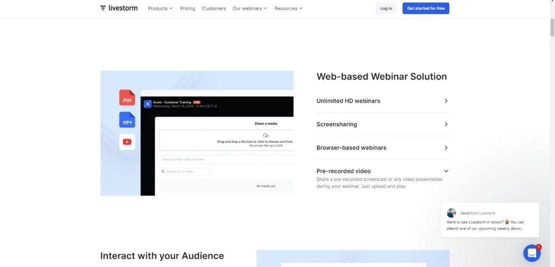 Browser-based Webinars