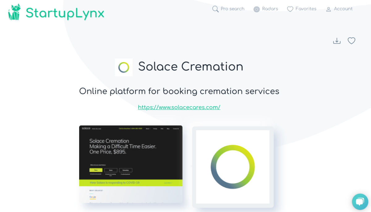 Solace Cremation, online platform for booking cremation service