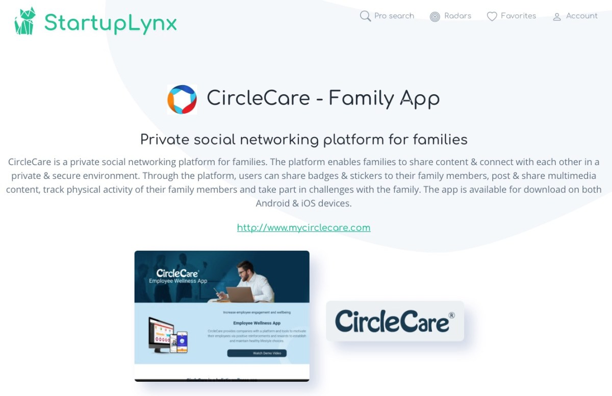 CircleCare is a private social networking platform for families.