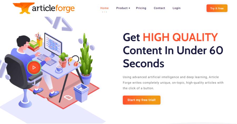 articleforge: article generator