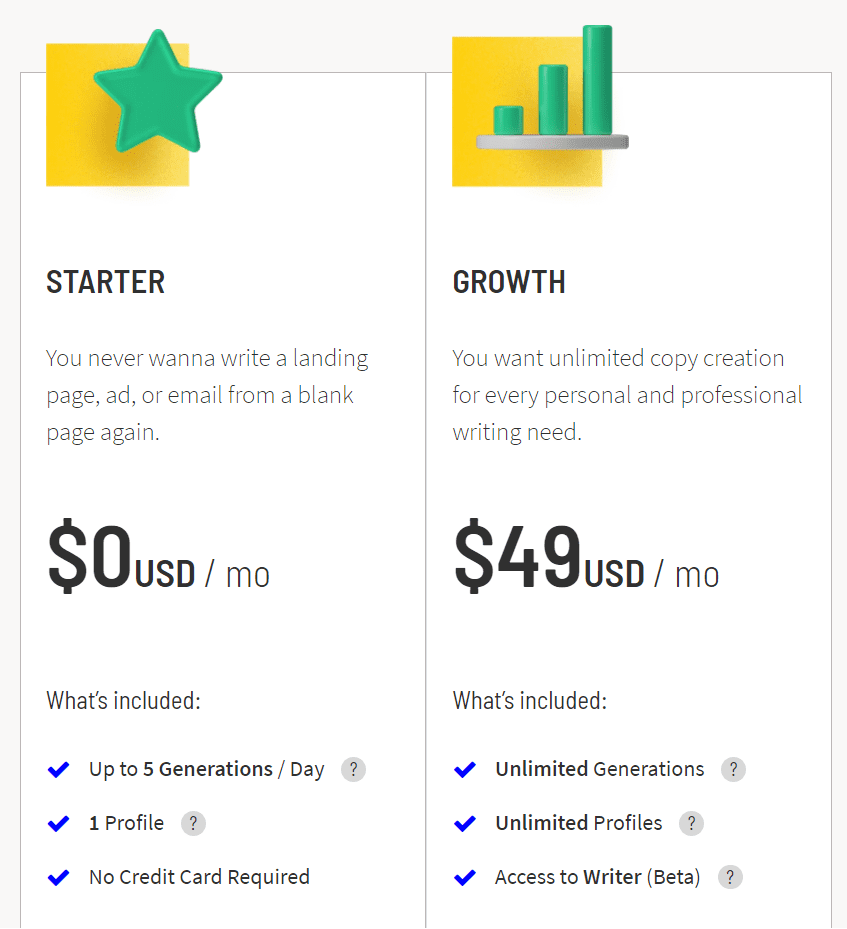 snazzy pricing