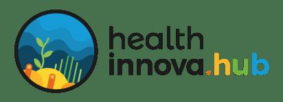 Logo Preto Health Innova HUB PNG