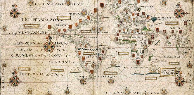 Antigo mapa das Índias