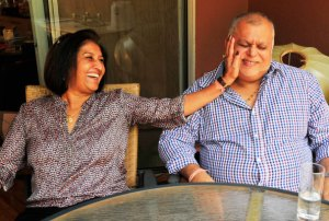 Sudhir Ruparelia and wife
