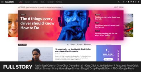 FullStory - WordPress Theme for Blog / Magazine / Newspaper