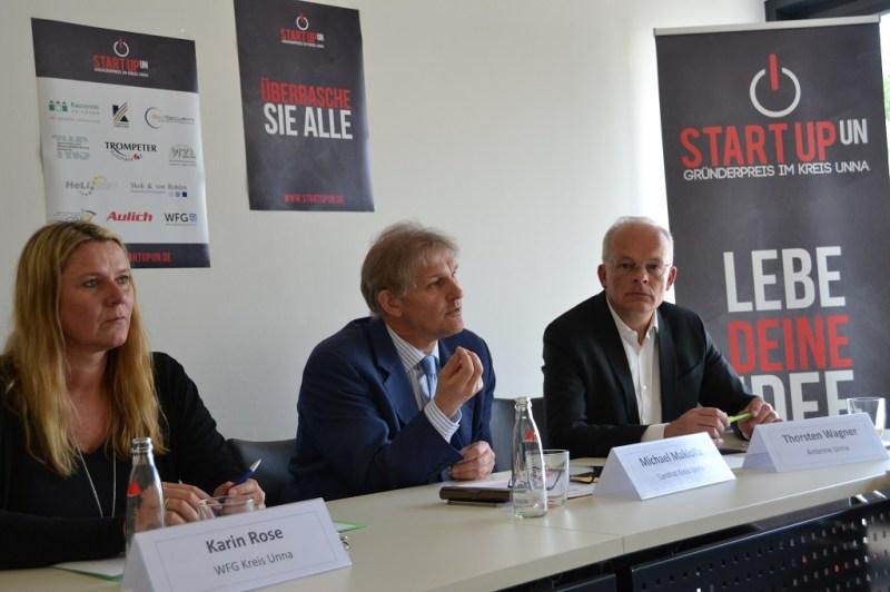 Karin Rose, Michael Makiolla und Thorsten Wagner bei der Pressekonferenz