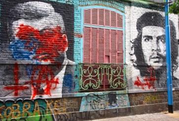 Mural in Palermo Soho JFK vs Che
