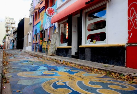 Mural goes ground