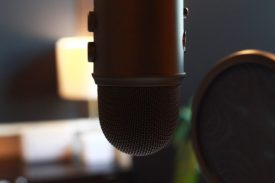 Blue Yeti USB Mic on Boom available in Studio