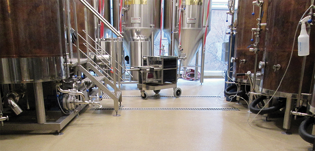 Brewery Floor with Drainage