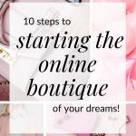 start an online boutique business