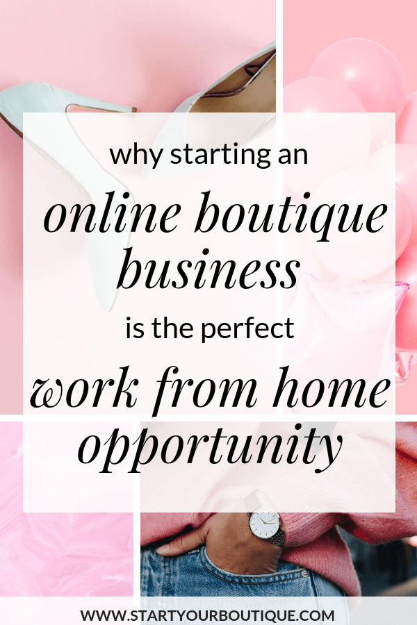 if you're a working mom who wants to work from home then consider starting an online boutique business. *SAVE THIS PIN* then click through to find out why you should start an online boutique business and how to get started. #makemoneyonline #workfromhome #workingmom #sidehustle #onlineboutiquebusiness