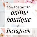 how to start an online boutique on instagram