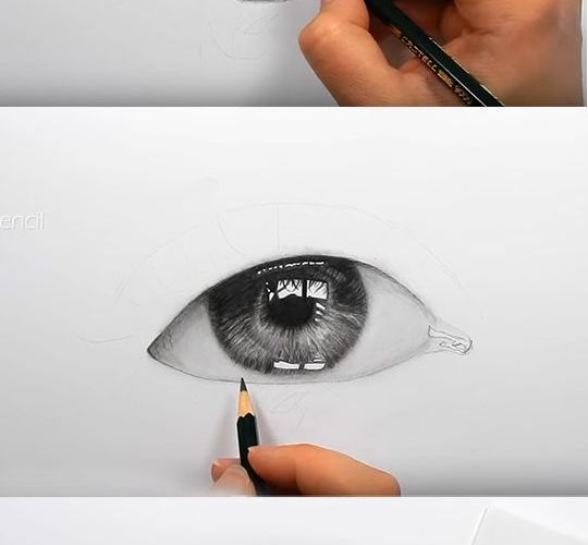 With the room in mind in the reflection. Draw realistic eyes with this step-by-s…