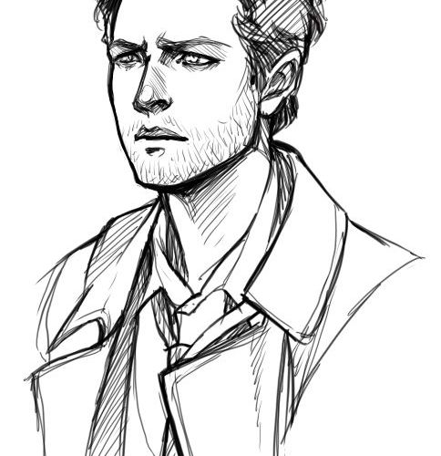 """doromon: """"  Sketches of attractive people. Why is Castiel is so hard to draw t…"""