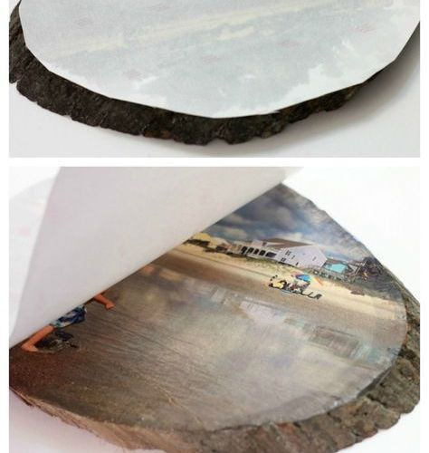 Learn how to easily transfer any photo onto a slice of wood using Silhouette tem…