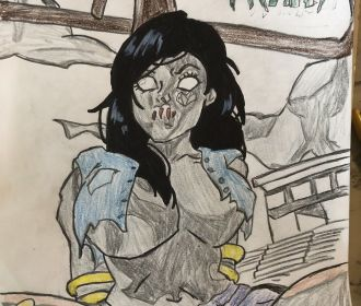 Zombie Tramp Artwork!!! FOR SALE!!! 9in x 12in!!!