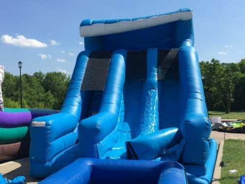 dallas water slide rental - dual lane