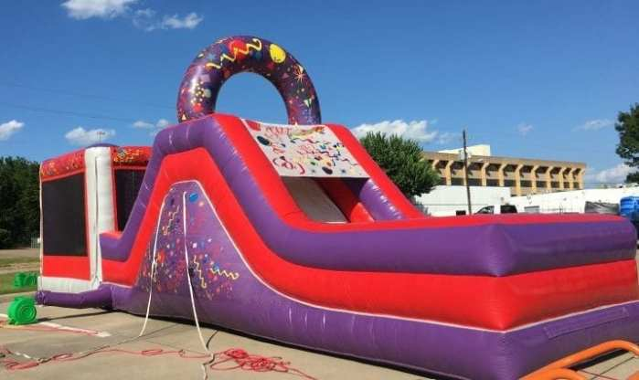 Kid combo bouncy inflatable obstacle course rental