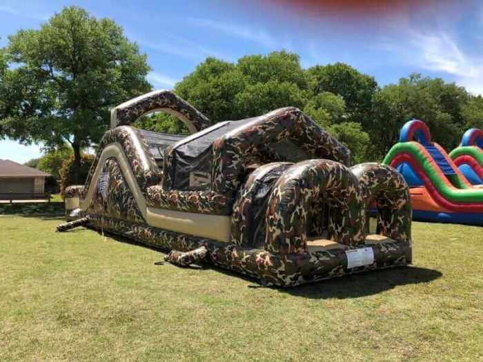 Military obstacle course rental
