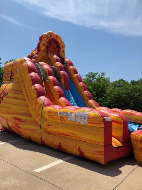 dry slide inflatable fire n ice