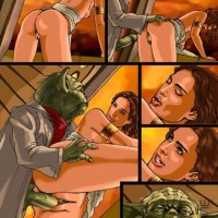 yoda is said to be the master of the force now he is the master of pussy pounding!
