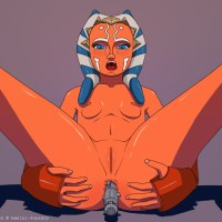 Ahsoka Tano inserts a vibrator in the ass and gets satisfaction.