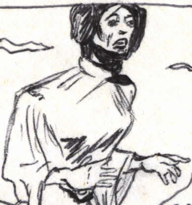 kid's drawing of Princes Leia (detail)