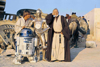 alec guinness on location - mos eisley