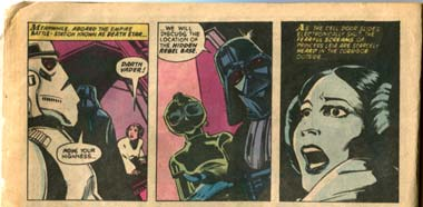 Princess Leia's Interrogation in the 1977 marvel comic adaptation