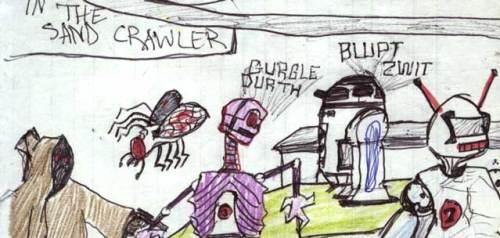 Inside the Jawa sandcrawler in this 1977 kid's Star Wars comic adaptation