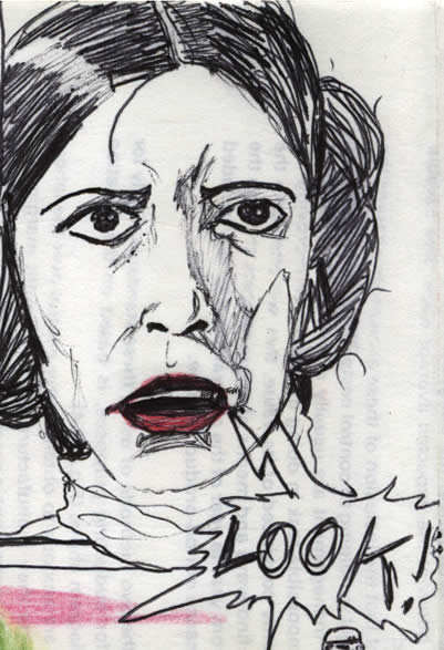 princess leia in a star wars comic page detail image