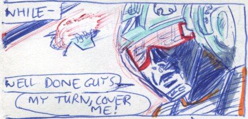 luke skywalker piloting a snowspeeder