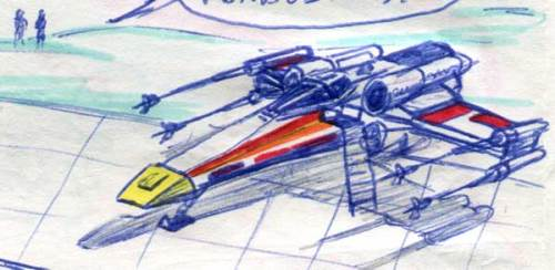 X-WING FIGHTER COMIC PAGE DETAIL