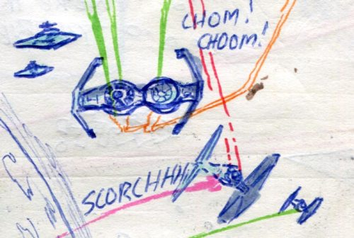 tie fighters and bombers comic page detail