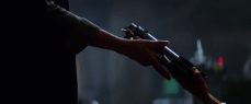 "The orange alien ""Rose"" hands Anakin's lightsaber to Princess Leia!"