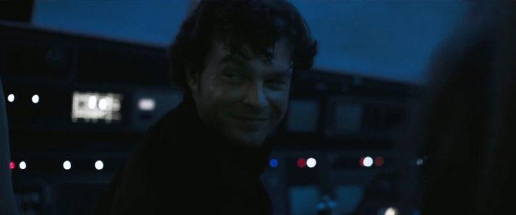 """Han deelt iedereen vrolijk mede dat hij even dacht dat ze in de problemen zaten maar dat er niets aan de hand is. Maar wat waren zijn woorden tegenover Luke ook alweer toen die dacht dat alles goed leek te gaan? """"Don't get cocky kid!"""""""