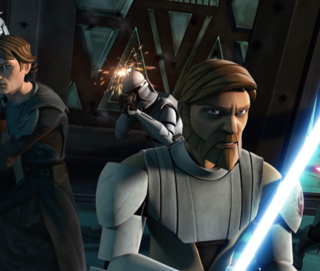 Obi Wan And Anakin In The Clone Wars