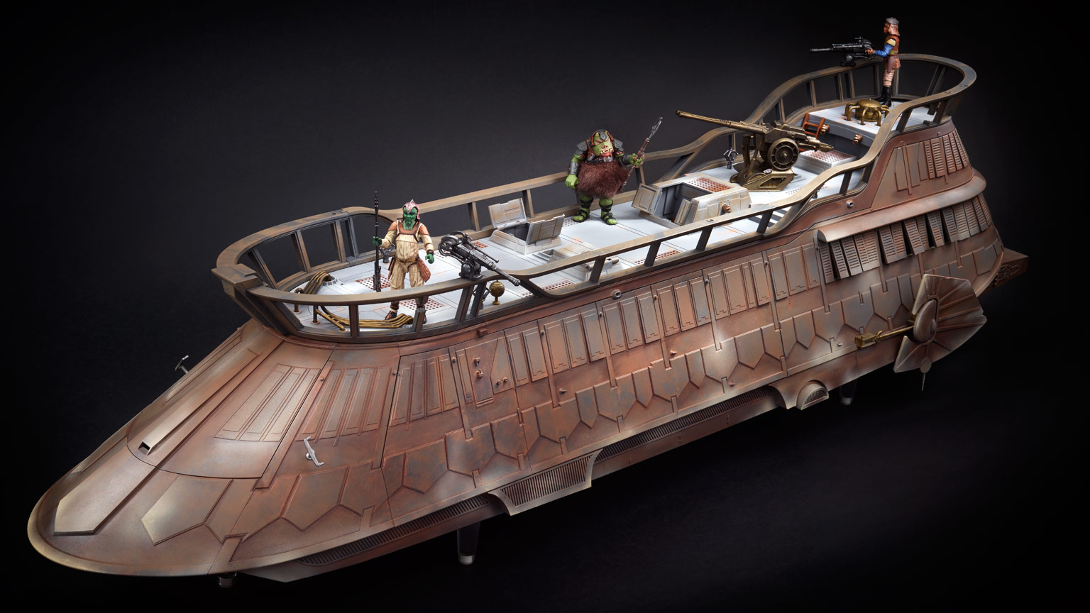 Check Out New Photos Of The Fully Painted Jabba S Sail Barge Prototype From Hasbro