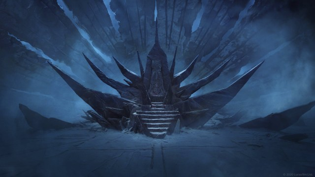 Star Wars virtual background: The Emperor's throne on Exegol
