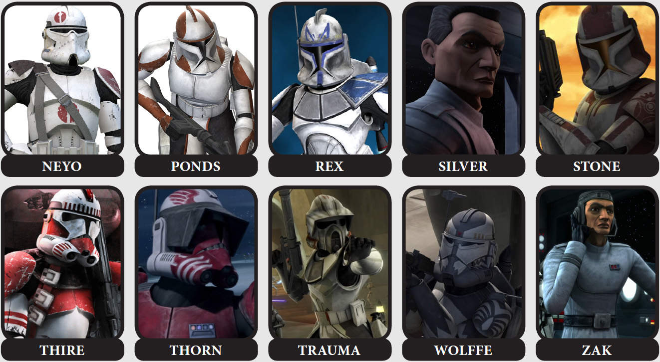 Star Wars Clone Commanders And Captains