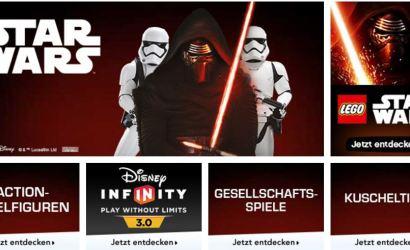 """20% Rabatt auf alle Star Wars Artikel bei Toys""""R""""Us"""