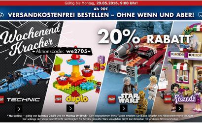 Zusätzlich 20% Rabatt auf LEGO Star Wars bei Karstadt!