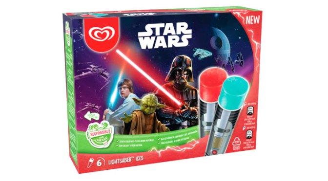 Promoción Star Wars Espada Láser Helada de Frigo