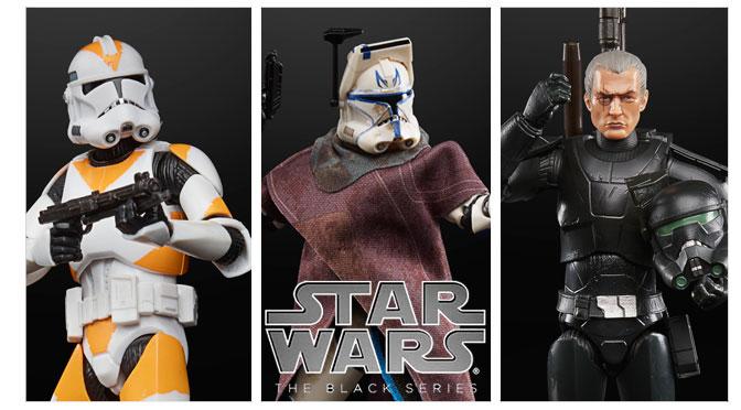 Hasbro revela tres nuevas figuras exclusivas en la línea regular Black Series 6″