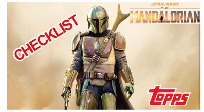 Checklist Colección Topps Star Wars The Mandalorian (versión europea)