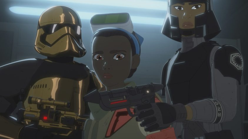 Tam leaves with the First Order in Star Wars Resistance.
