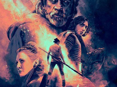 Star Wars The Last Jedi poster (Wallpaper)