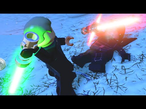LEGO Star Wars The Force Awakens Luke Skywalker VS Kylo Ren Final Boss Fight