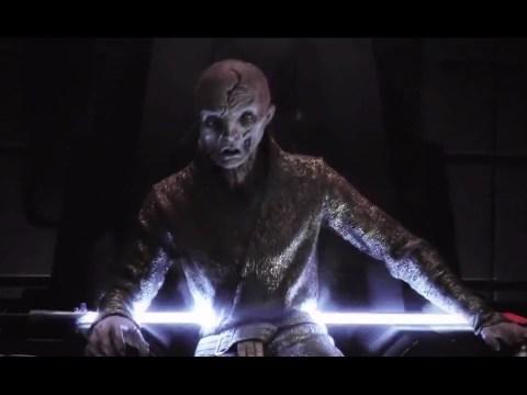 Snoke's Death Scene The Last Jedi Kylo Ren Kills Snoke